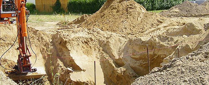 Der Traum vom Haus fängt mit der Baugrube an, auch hier können wir Ihnen helfen.